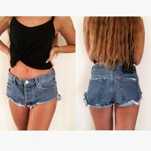 One Teaspoon Roller Cutoff Short Denim Jean Shorts
